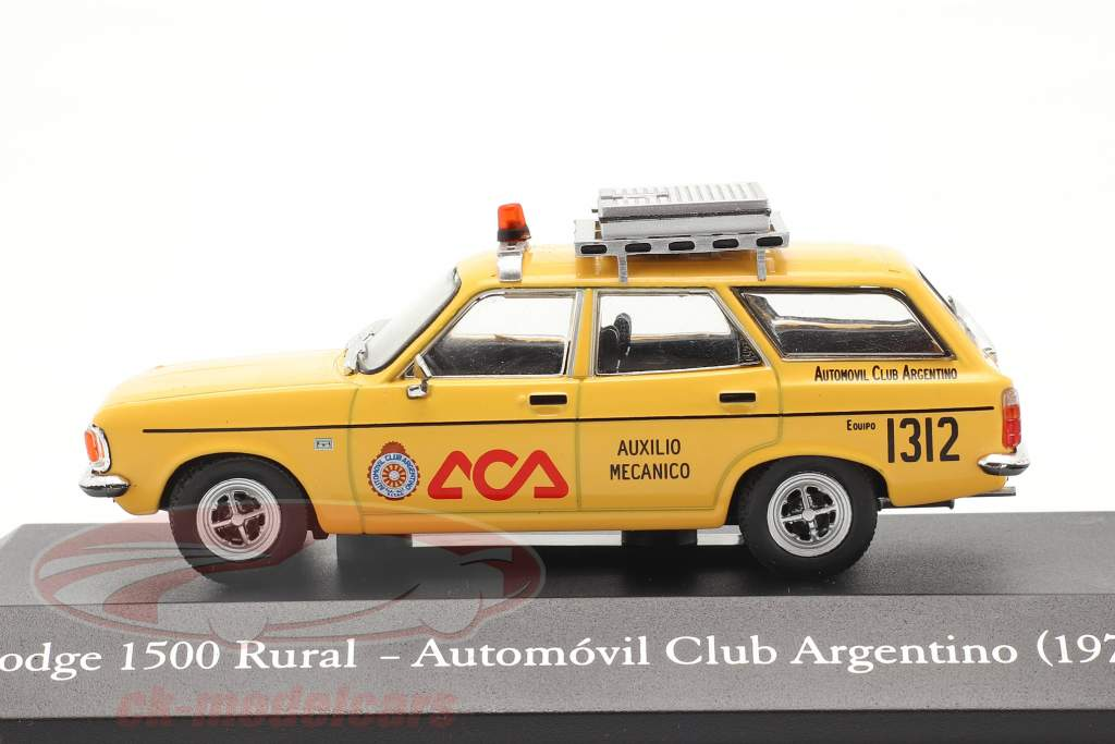 Dodge 1500 Rural Clube automóvel Argentina 1978 amarelo 1:43 Altaya
