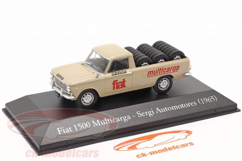 Fiat 1500 Multicarga Pick-Up Sergi Automotores 1965 beige 1:43 Altaya