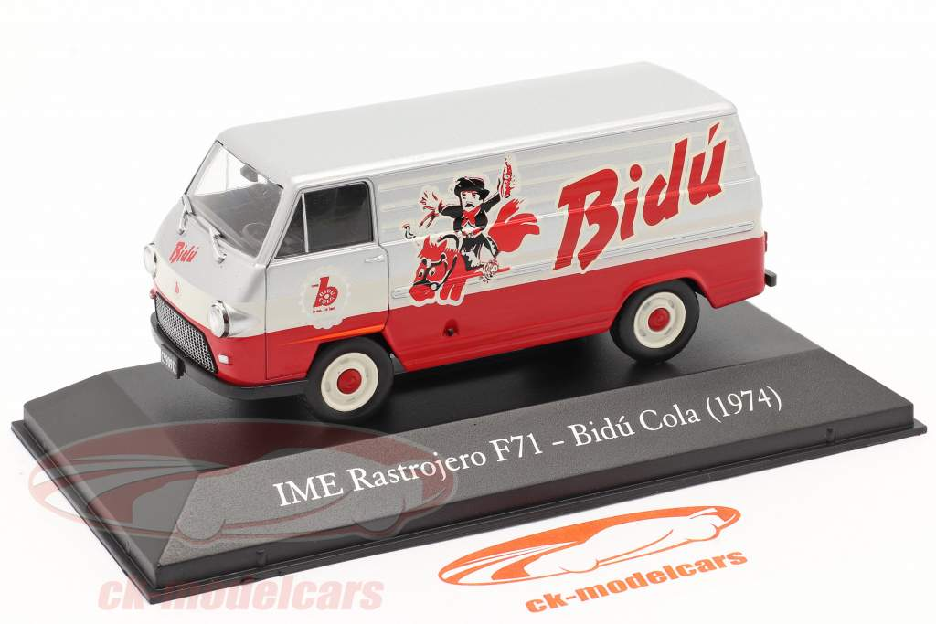 IME Rastrojero F71 Bidu Cola 1974 rood / zilver / Wit 1:43 Altaya