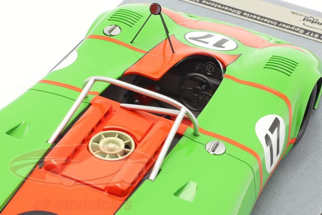 Porsche 917 Spyder #17 4º Silverstone Interserie 1972 Kraus 1:18 Tecnomodel