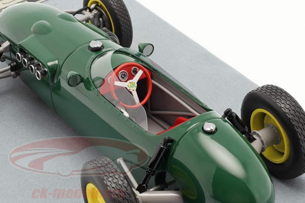 Lotus 12 druk op versie 1958 Brits racen groen 1:18 Tecnomodel