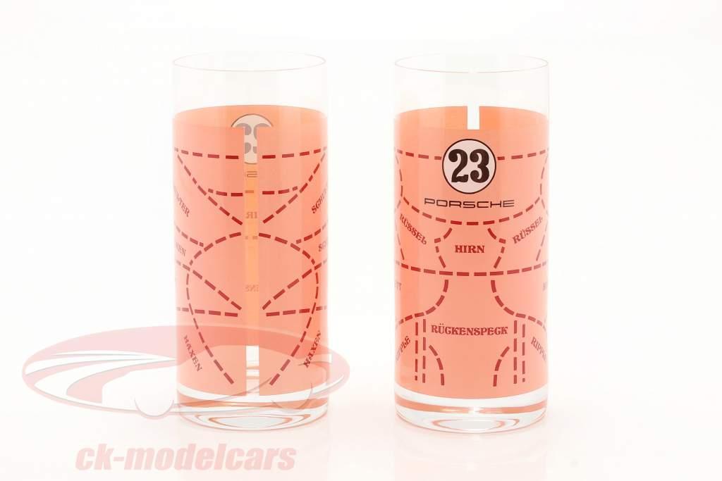 Lange drikkeglas 2 Stykker Porsche 917 Pink Pig