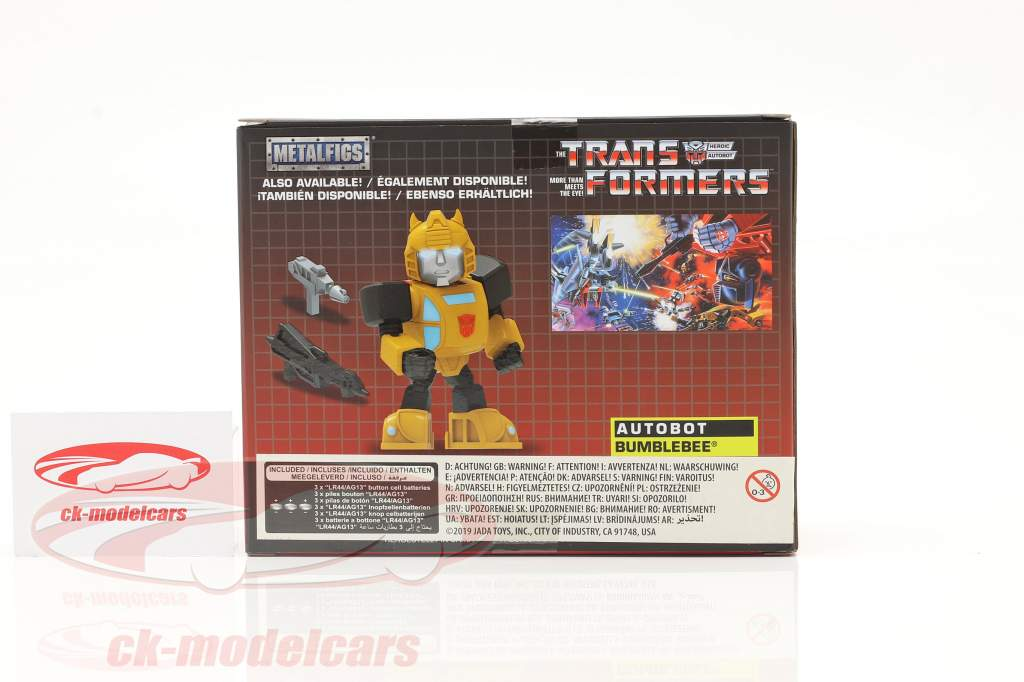 Autobot G1 Bumblebee Movie Transformers yellow 4 inch Jada Toys