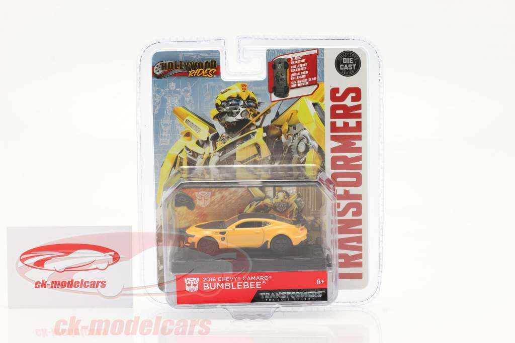 Chevrolet Camaro Bumblebee 2016 Transformers 5 (2017) geel 1:64 Jada Toys