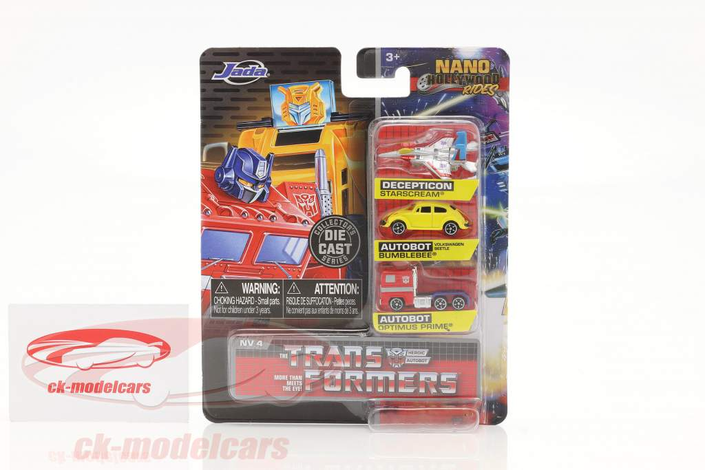 3-Car Set Nano Cars Transformers Jada Toys