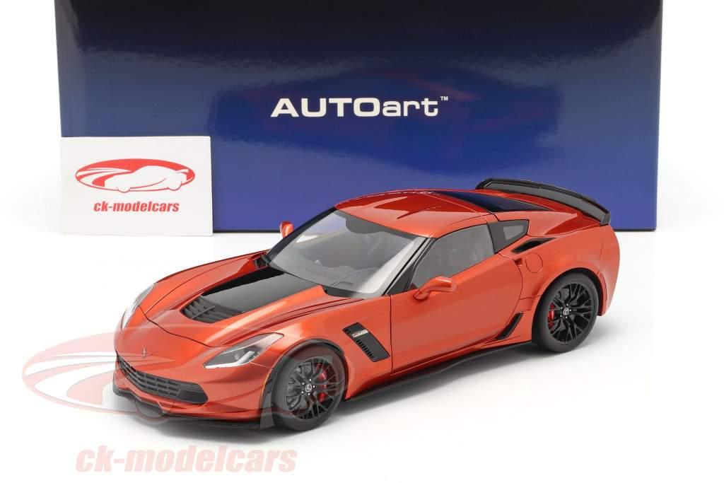 Chevrolet Corvette C7 Z06 Année de construction 2014 Orange 1:18 AUTOart
