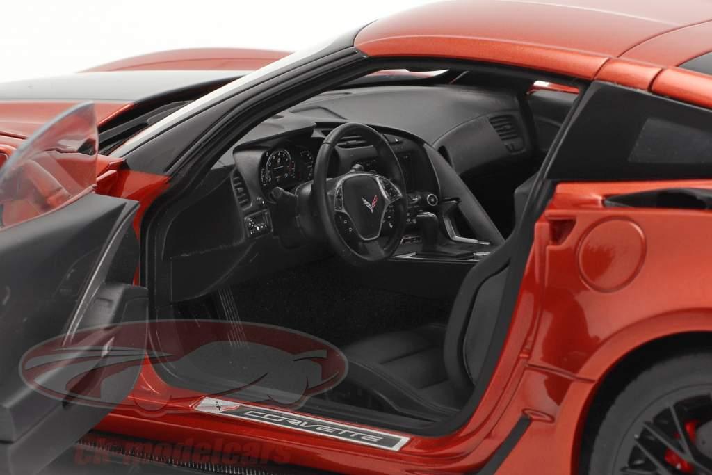 Chevrolet Corvette C7 Z06 year 2014 orange 1:18 AUTOart
