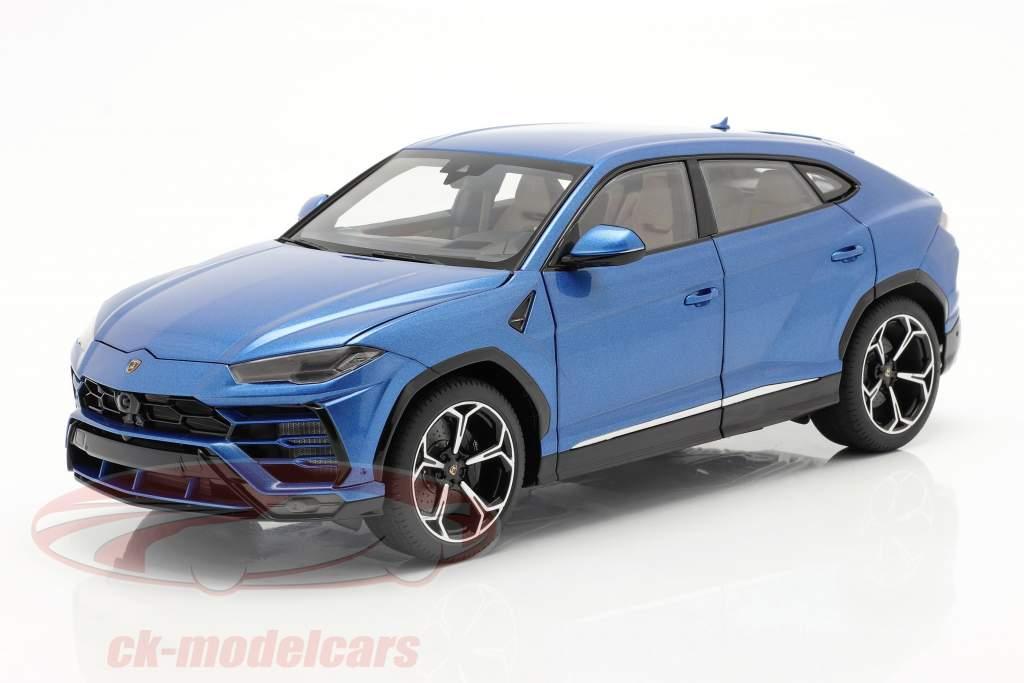 Lamborghini Urus Bouwjaar 2018 blauw metalen 1:18 AUTOart
