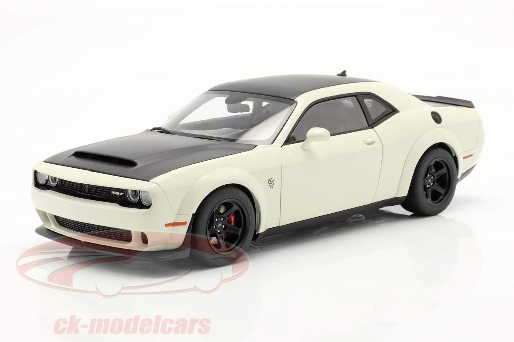 Dodge Challenger SRT Demon Baujahr 2018 weiß / schwarz 1:18 AUTOart