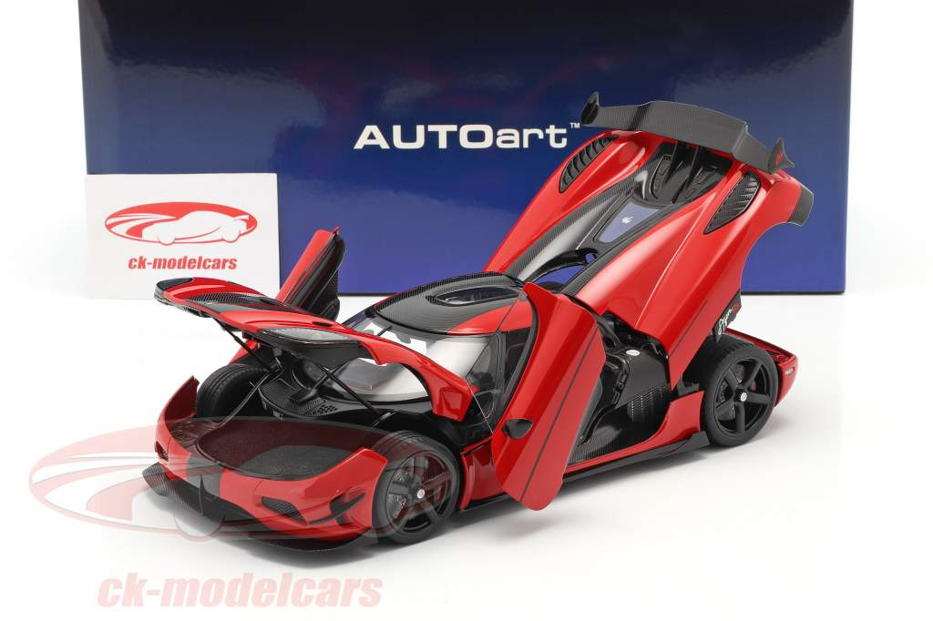 Koenigsegg Agera RS Année de construction 2015 le Chili rouge / carbone 1:18 AUTOart