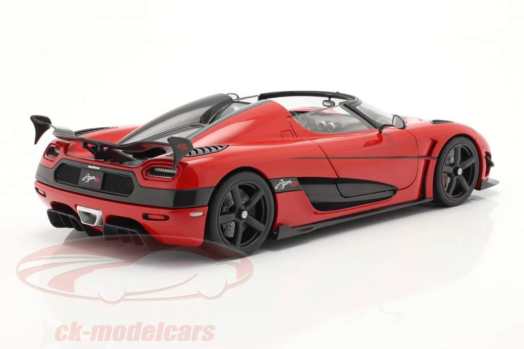 Koenigsegg Agera RS Ano de construção 2015 Pimenta vermelho / carbono 1:18 AUTOart