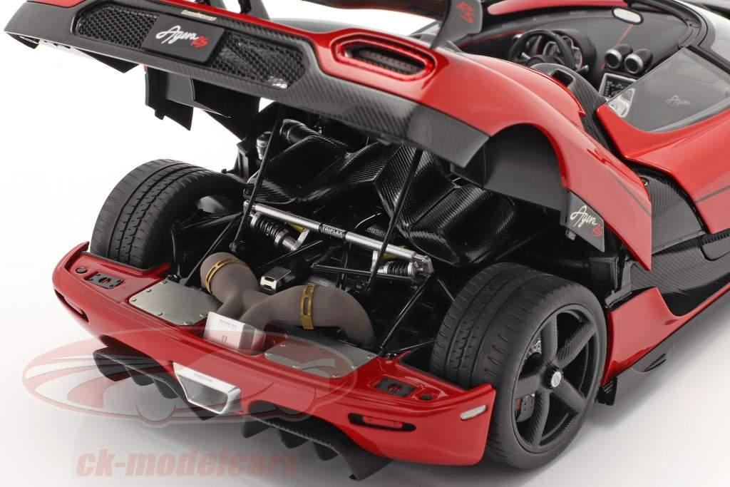 Koenigsegg Agera RS year 2015 chili red / carbon 1:18 AUTOart