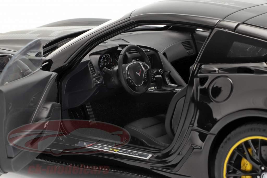 Chevrolet Corbeta C7 Z06 C7R Edition 2015 brillo negro 1:18 AUTOart