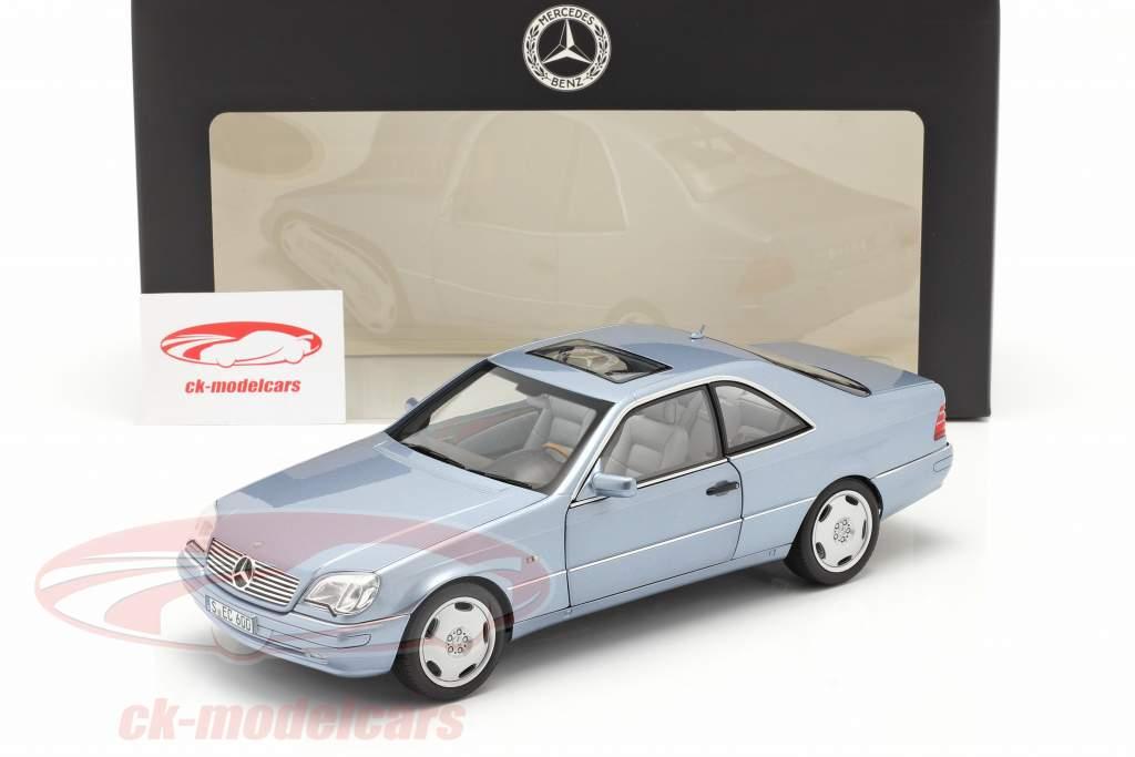 Mercedes-Benz CL 600 Coupe (C140) Anno di costruzione 1996-1998 blu perla metallico 1:18 Norev