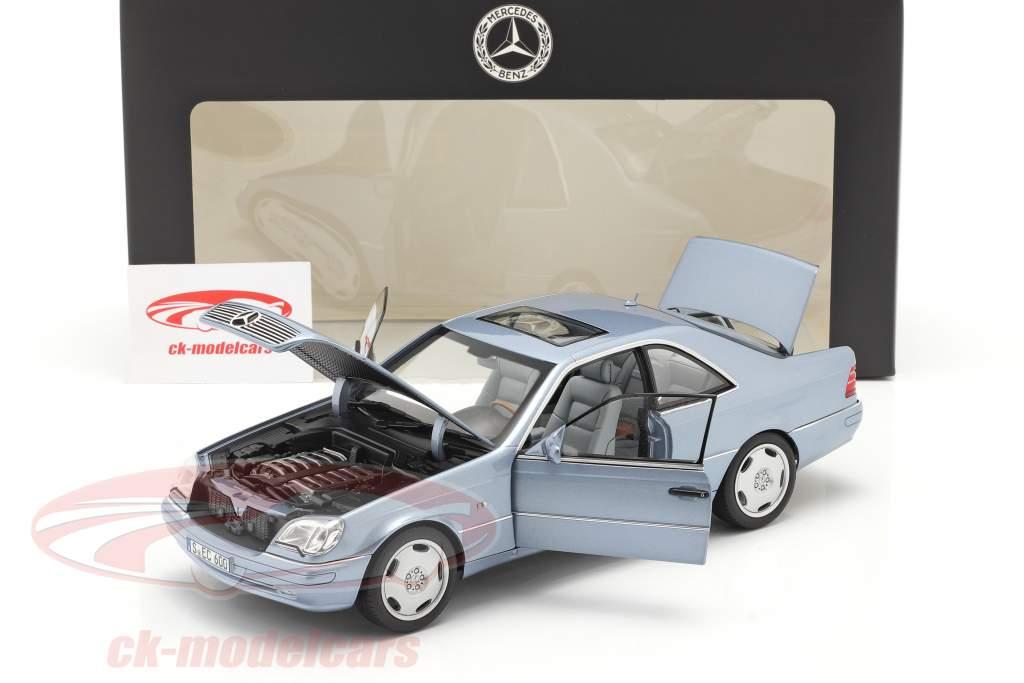 Mercedes-Benz CL 600 Coupe (C140) Baujahr 1996-1998 perlblau metallic 1:18 Norev