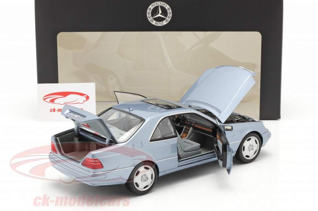 Mercedes-Benz CL 600 Coupe (C140) Año de construcción 1996-1998 azul perla metálico 1:18 Norev