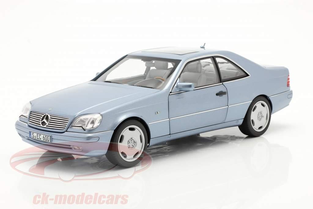 Mercedes-Benz CL 600 Coupe (C140) Bouwjaar 1996-1998 parelblauw metalen 1:18 Norev