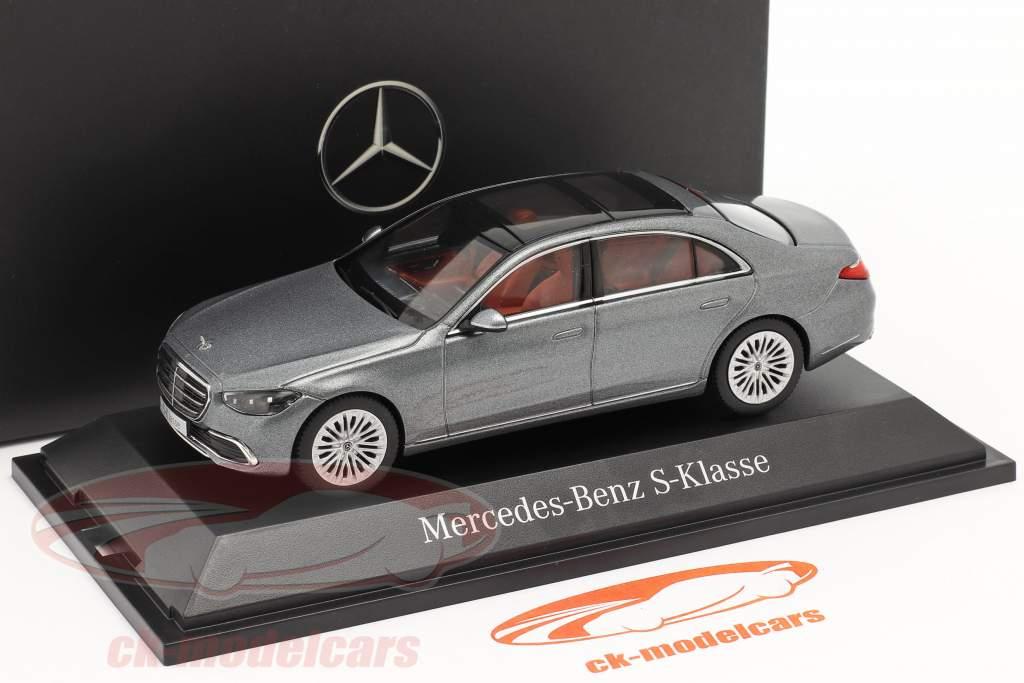 Mercedes-Benz S-klasse (V223) Bouwjaar 2020 seleniet grijs 1:43 Herpa