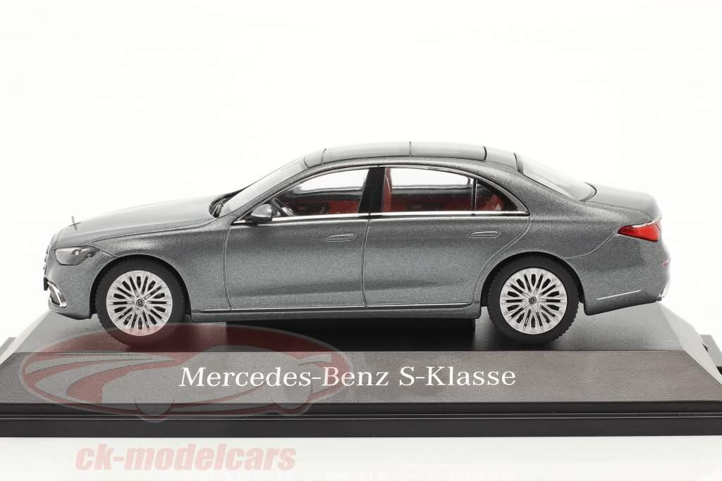 Mercedes-Benz Clase S (V223) Año de construcción 2020 gris selenita 1:43 Herpa