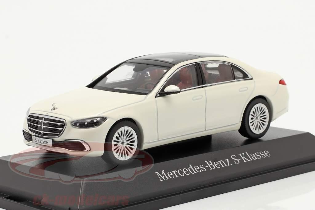 Mercedes-Benz Classe S (V223) Ano de construção 2020 designo diamante branco brilhante 1:43 Herpa