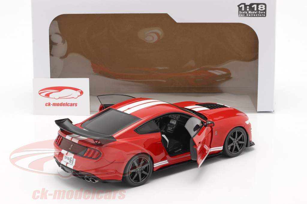 Ford Mustang Shelby GT500 Fast Track Année de construction 2020 rouge 1:18 Solido