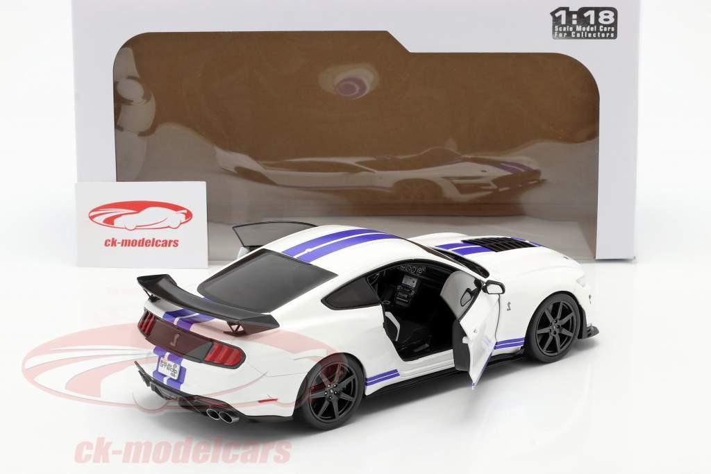 Ford Mustang Shelby GT500 Fast Track Año de construcción 2020 blanco 1:18 Solido