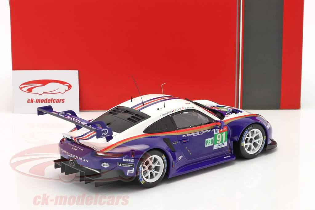 Porsche 911 (991) RSR #91 2 ° LMGTE Pro 24h LeMans 2018 1:18 Ixo