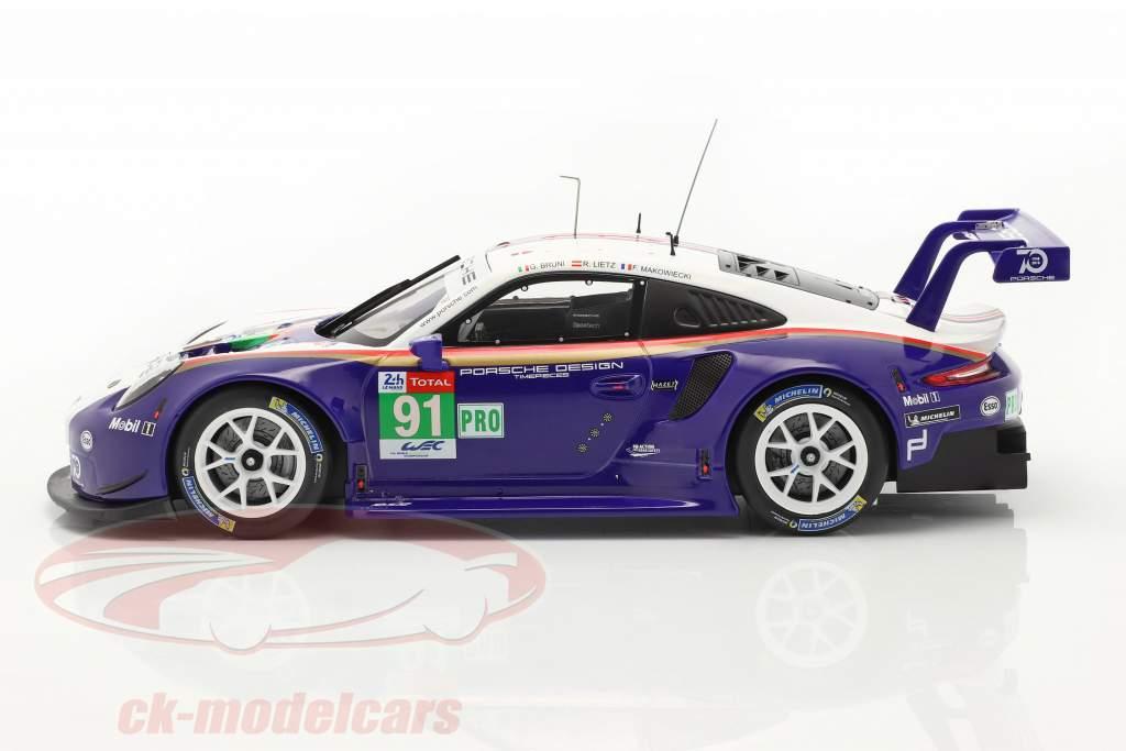 Porsche 911 (991) RSR #91 2do LMGTE Pro 24h LeMans 2018 1:18 Ixo