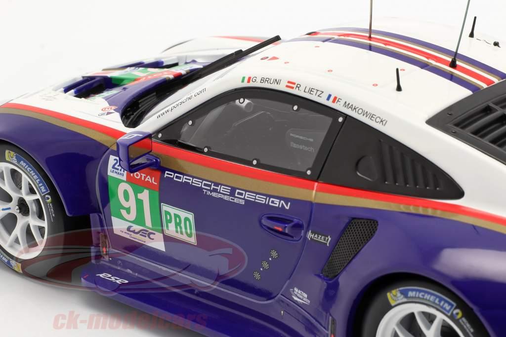 Porsche 911 (991) RSR #91 2nd LMGTE Pro 24h LeMans 2018 1:18 Ixo