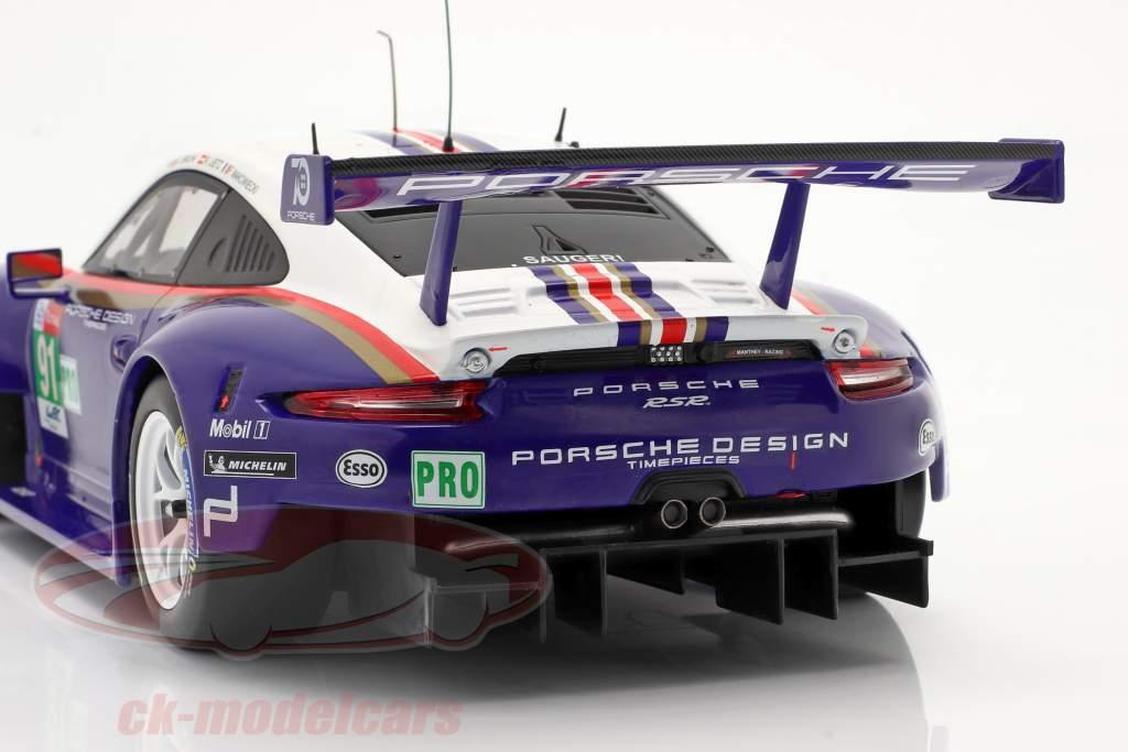 Porsche 911 (991) RSR #91 2e LMGTE Pro 24h LeMans 2018 1:18 Ixo