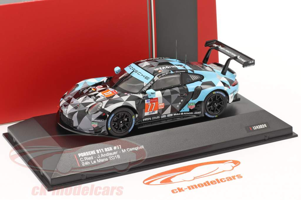 Porsche 911 (991) RSR #77 Winner LMGTE Am 24h LeMans 2018 1:43 Ixo