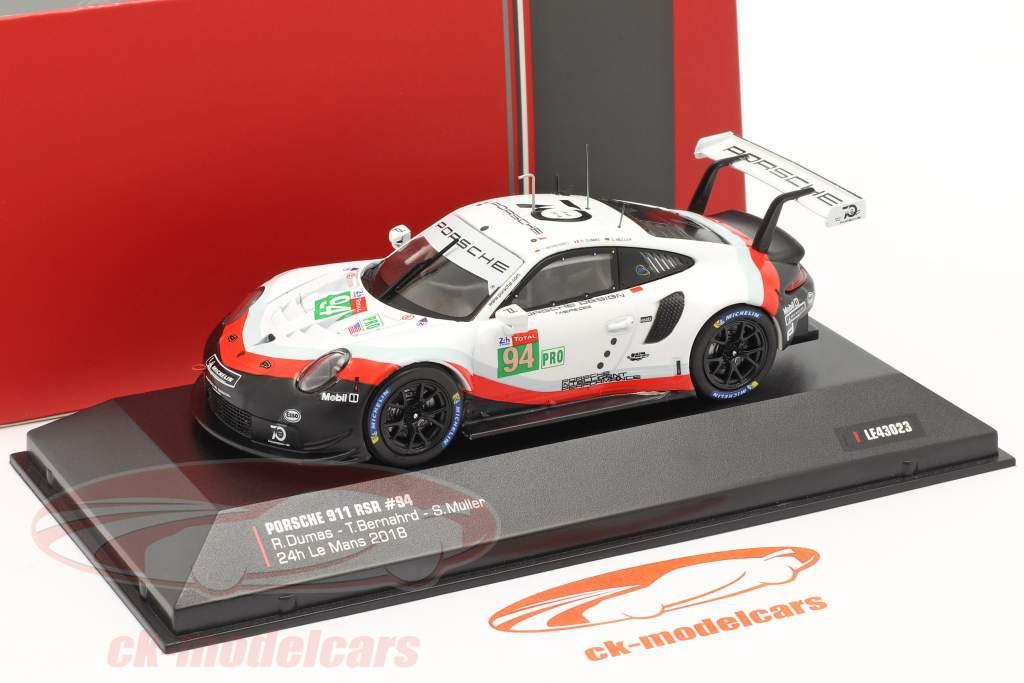 Porsche 911 (991) RSR #94 24h LeMans 2018 Porsche GT Team 1:43 Ixo