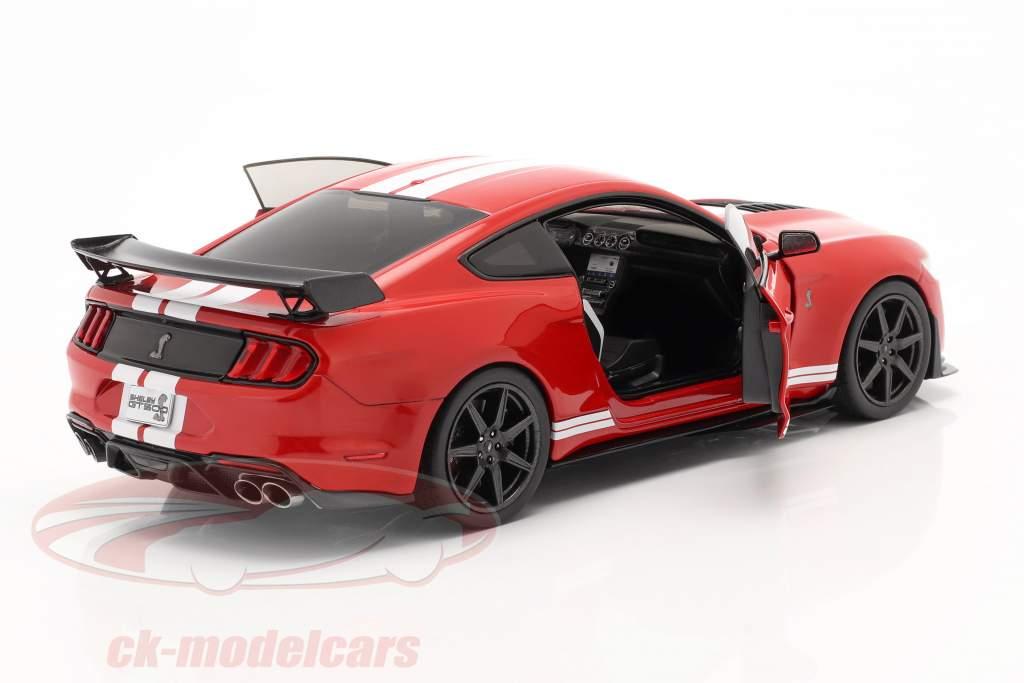 Ford Mustang Shelby GT500 Fast Track Byggeår 2020 rød 1:18 Solido