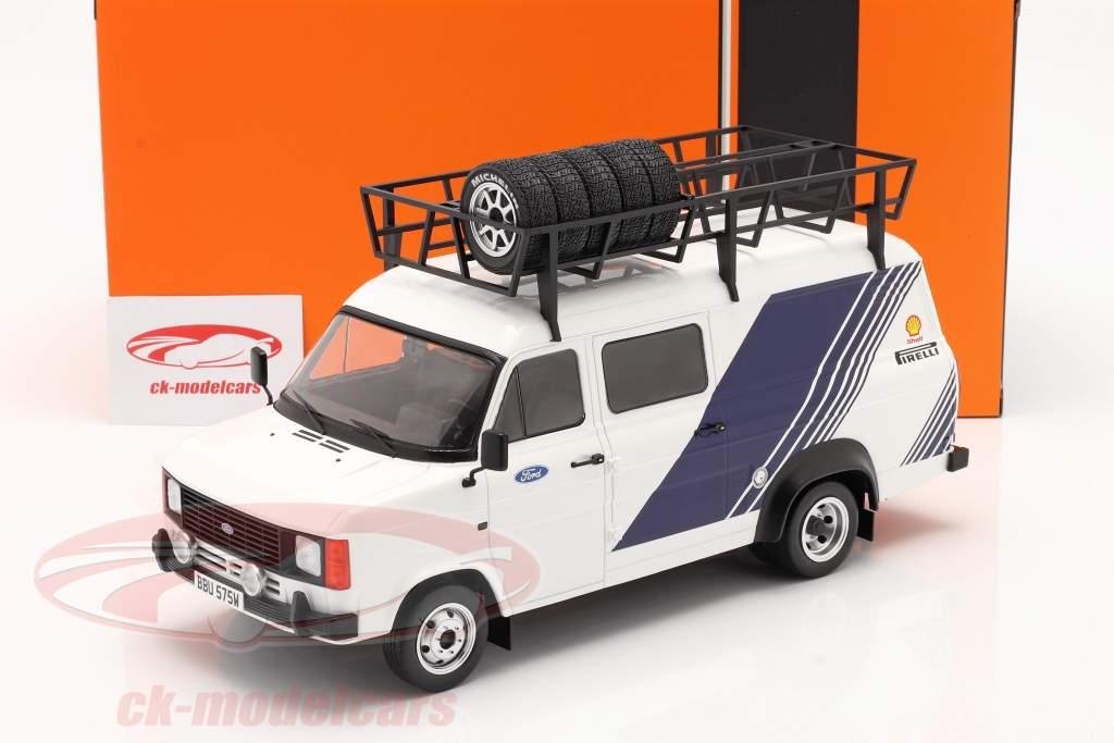 Ford Transit MK II furgão Team Ford Branco / azul 1:18 Ixo