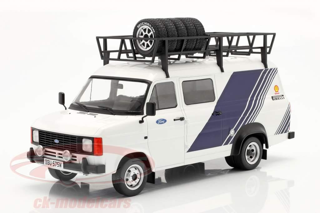 Ford Transit MK II Van Team Ford blanc / bleu 1:18 Ixo