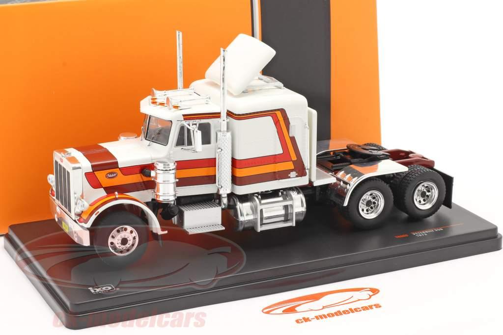 Peterbilt 359 Sattelzugmaschine 1973 weiß / rot / orange / braun 1:43 Ixo