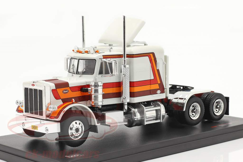 Peterbilt 359 Truck year 1973 white / red / orange / brown 1:43 Ixo