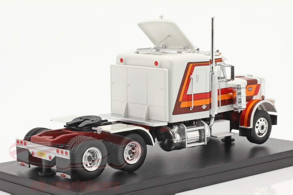 Peterbilt 359 Camion Année de construction 1973 blanc / rouge / Orange / marron 1:43 Ixo