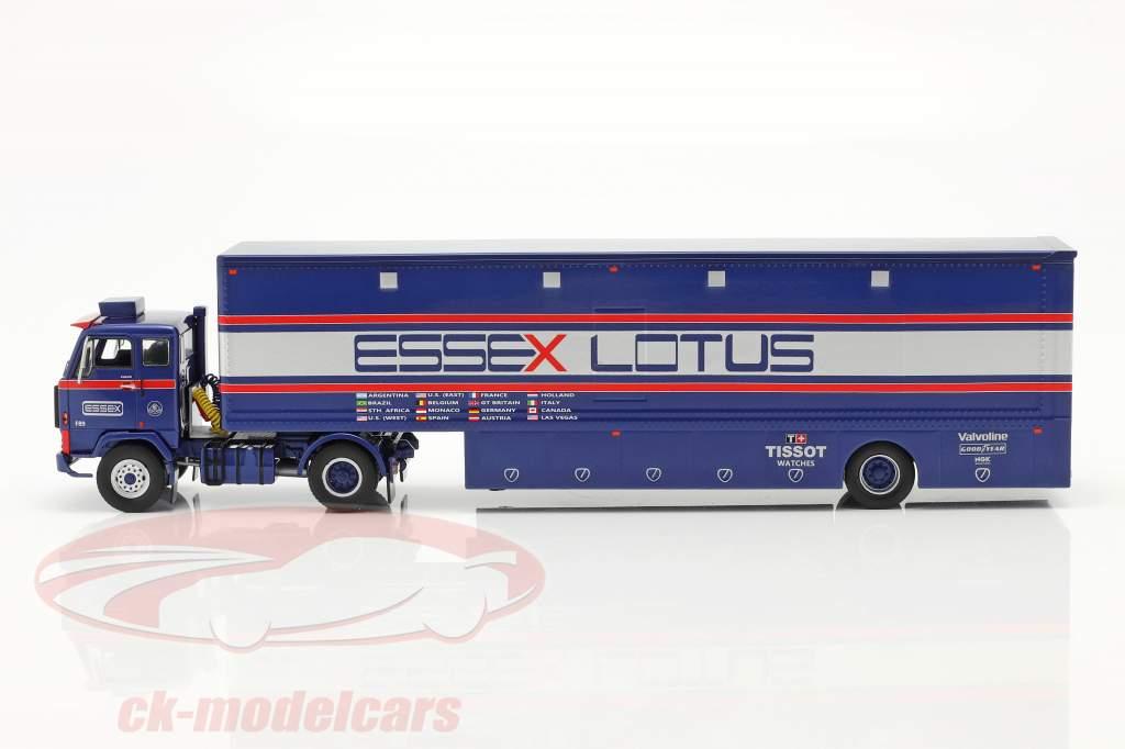 Volvo F89 Renntransporter Essex Lotus blau / silber / rot 1:43 Ixo