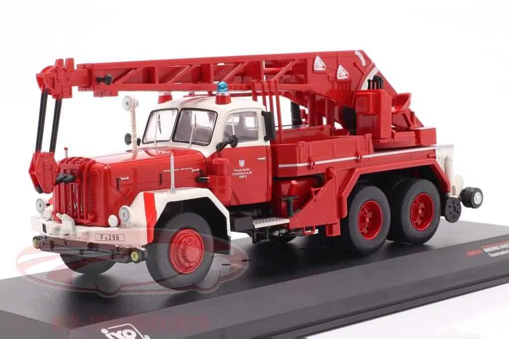 Magirus Deutz Uranus KW 16 Feuerwehr Frankfurt rot 1:43 Ixo