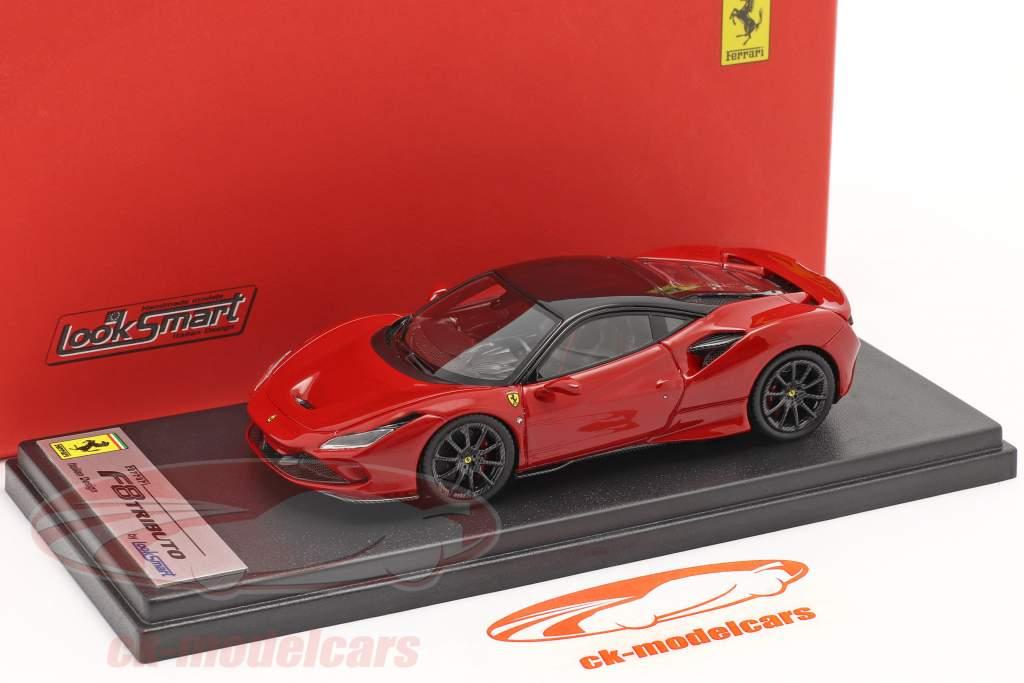 Ferrari F8 Tributo Bouwjaar 2019 corsa rood metalen / zwart 1:43 LookSmart