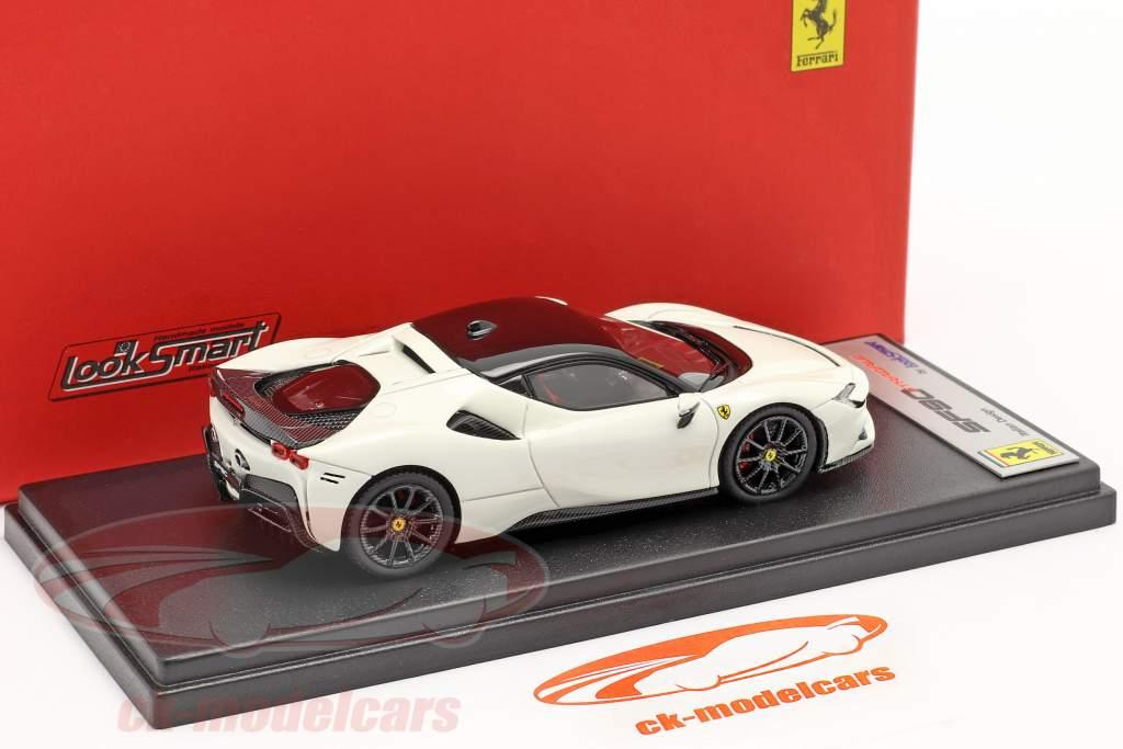 Ferrari SF90 Stradale Anno di costruzione 2019 avus bianca / nero 1:43 LookSmart