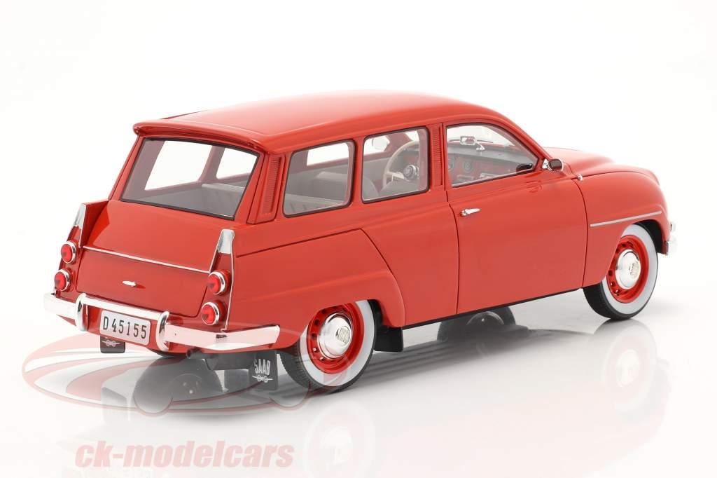 Saab 95 Ano de construção 1963 vermelho 1:18 Cult Scale