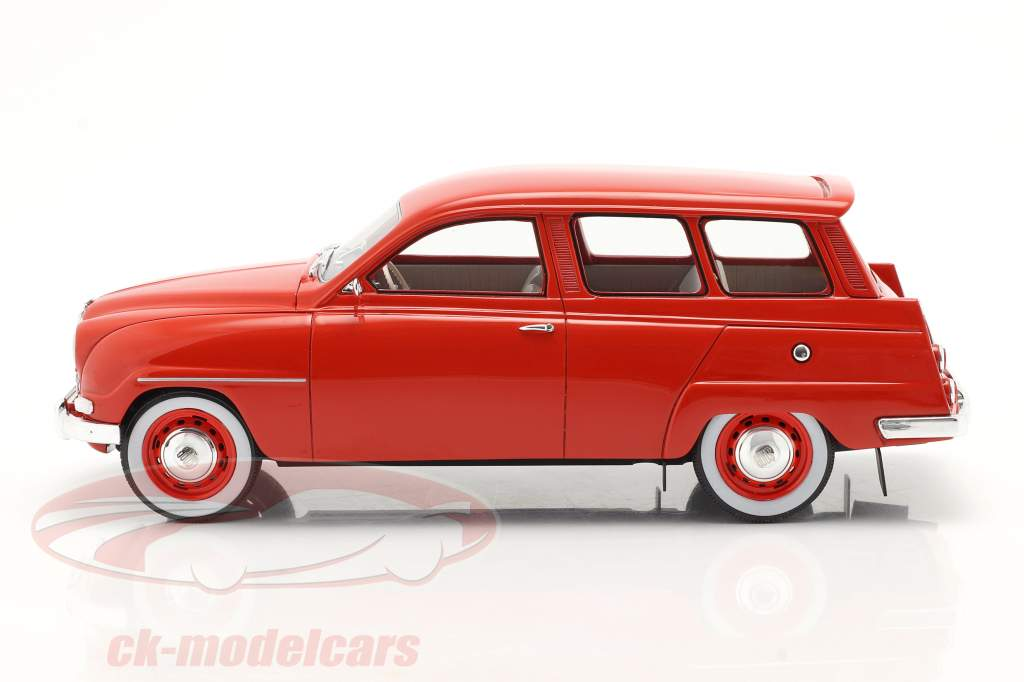 Saab 95 year 1963 red 1:18 Cult Scale