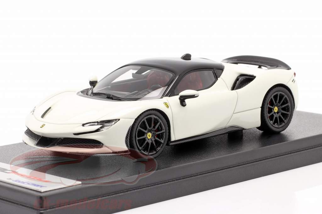 Ferrari SF90 Stradale Bouwjaar 2019 avus Wit / zwart 1:43 LookSmart
