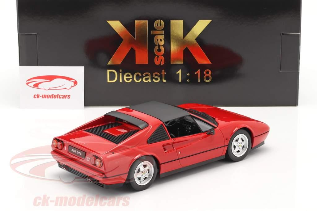 Ferrari 328 GTS Année de construction 1985 rouge 1:18 KK-Scale