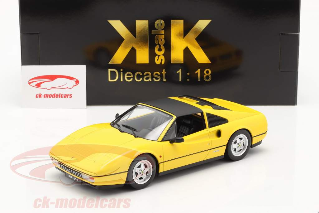 Ferrari 328 GTS Ano de construção 1985 amarelo 1:18 KK-Scale