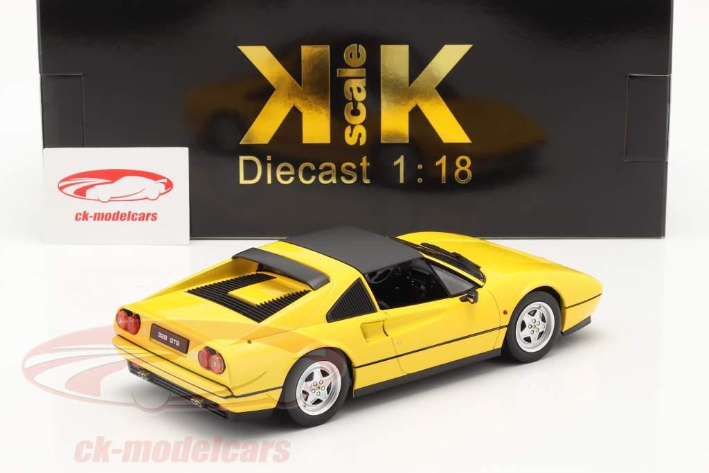 Ferrari 328 GTS Byggeår 1985 gul 1:18 KK-Scale