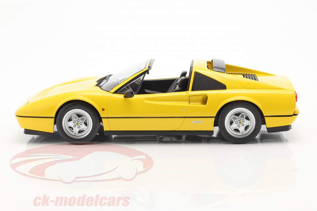 Ferrari 328 GTS Año de construcción 1985 amarillo 1:18 KK-Scale