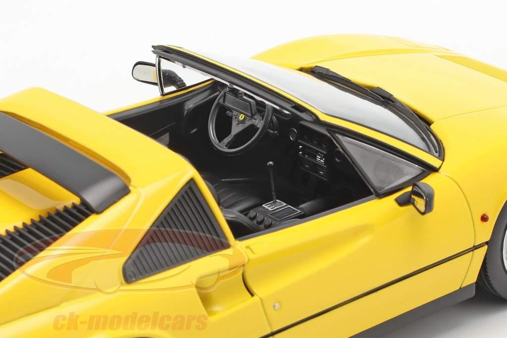 Ferrari 328 GTS Bouwjaar 1985 geel 1:18 KK-Scale